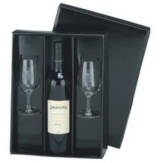 We can only supply this set without wine due to liquor licensing laws. Our handsome corporate wine gift set is an impressive promotional item that will show your clients, customers, staff, and business associates your Sparkling Wine Glasses, Mug Printing, Branded Gifts, Wine Online, Personalized Wine, Black Gift Boxes, Wine Gifts, Fine Wine, Corporate Gifts