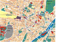 Map Of Munich Area | Detailed map of Munich city with landmarks
