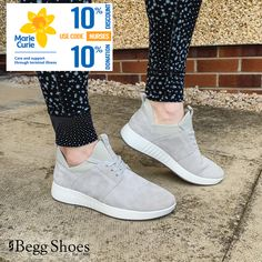🏃♀️ This sporty style from #Legero offers supreme comfort in these #leathertrainers Get 10% off and a further 10% will be donated to @mariecurieuk Browse the full range here 👉 www.beggshoes.com/Womens/legero-shoes/  Use code: NURSES to claim your discount. 👩⚕️ #leathershoes #sneakers #mariecurie Leather Shoes, Bags 2014, Sporty Style, Gore Tex, Shoe Sale, Nurses, Soft Leather, Supreme