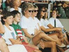 Diana watching a show at Walt Disney World, Florida in August, 1993.