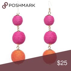 Light Weight Pink & Orange Drop Ball Earrings Cute pink and orange colored drop ball earrings. Light weight, have a fish hook closure. Perfect for adding color to any outfit! Brand new, comes sealed in mfg packaging. #9051711 Jewelry Earrings