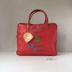 Flight Bag, Vintage Travel Accessories, Retro Luggage, Weekender Carryon, Overnight Bag, Weekender Tote Bag, Travel Agency Bag