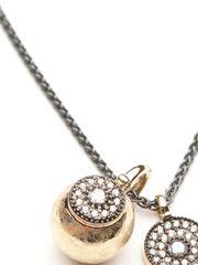 Mizuki Double Medallion Necklace