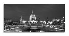 Another new creation ready to hang    http://thousandface.myshopify.com/products/st-pauls-skyline-black-and-white-panorama-canvas-wall-art-picture-home-decor?utm_campaign=social_autopilot&utm_source=pin&utm_medium=pin