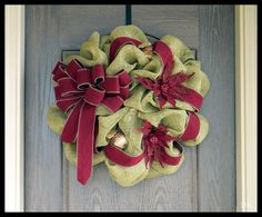 Custom Christmas Wreath COUNTRY Christmas Wreath by DKFlorals, $85.00
