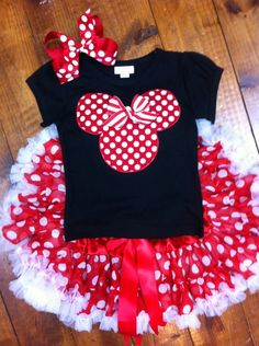 Minnie Mouse Tee by Ribbon Chix on Etsy, $24.00
