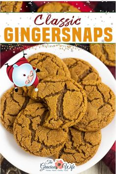 Classic Gingersnaps with a bold cinnamon and ginger-spiced flavor, crispy edges and a chewy center are easy to make and the perfect holiday cookie! Another classic Christmas cookie recipe, Gingersnaps are always a holiday hit and a family favorite.  My grandma has been making these using this recipe for as long as I can remember, and we all love them! | the Gracious Wife @thegraciouswife #gingersnapsrecipe #homemadegingersnaps #thegraciouswife Christmas Party Food, Xmas Food, Christmas Sweets, Christmas Recipes, Ginger Snaps Recipe, Ginger Snap Cookies, Cookie Recipes, Dessert Recipes, Bar Recipes