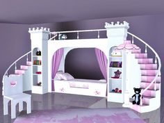 ASHTON: This is any girl's dream bed! Now your sims little princess can rule in her own palace and conquer the monsters under her bed! DOWNLOAD AT: http://www.thesimsresource.com/downloads/details/category/sims3/id/1221324/ CREATOR: Flovv NAME: Isabel Nursery