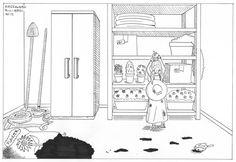 Giardinaggio #Disegno #Draw #Drawing #Inchiostrazione #Ink #Inking #Illustrazione #Illustration #Tratteggio #Crosshatch #Giardinaggio #Gardening #Bambina #Child