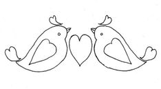 Free hand-embroidery pattern, Little Birdie Valentine, from Jules of Adventures in Thread