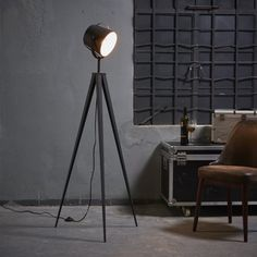 Shop for Versanora - Artiste Tripod Floor Lamp with Shade - Black & Gold Finish. Get free delivery On EVERYTHING* Overstock - Your Online Lamps & Lamp Shades Store! Get in rewards with Club O! Industrial Floor Lamps, Modern Floor Lamps, Modern Lighting, Lighting Ideas, Retro Floor Lamps, Industrial Furniture, Floor Lamp Base, Black Floor Lamp, Bedroom Lamps