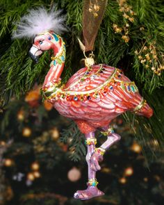 Jay Strongwater, Flamingo ornament | Neiman Marcus