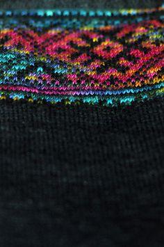 Lynn's gorgeous knitting-in-progress.