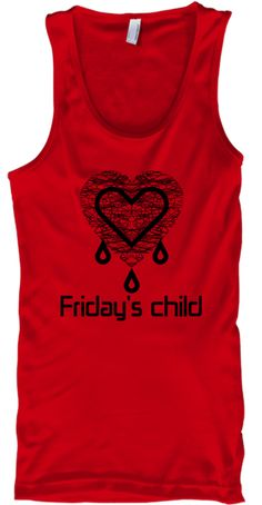 Friday's Child Red Tank Top Front