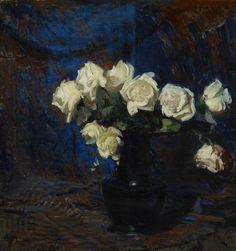 Białe róże, Leon Wyczółkowski, 1908 r.