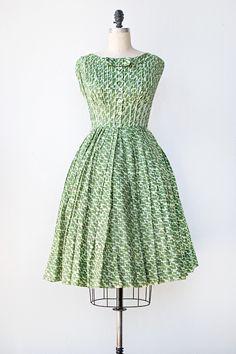 1950's Pleated Skirt Dress