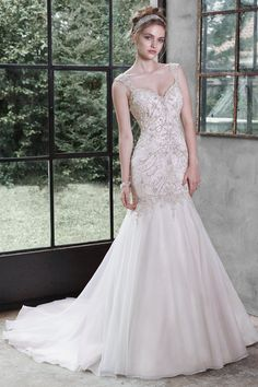 Maggie Sottero - 5MT652, Melissa, $1798, fit and flare, organza