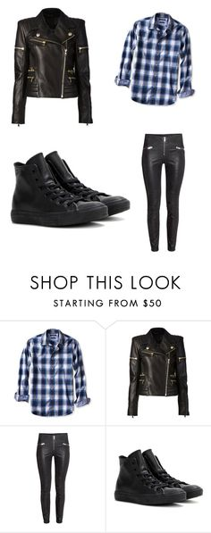 """""""Untitled #242"""" by sierrapalmer10 on Polyvore featuring Banana Republic, Balmain and Converse"""