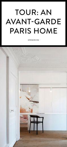 A Parisian home with avant-garde details