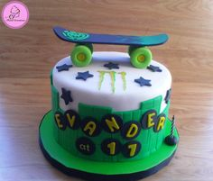 Element Skateboard cake www.facebook.com/AJFoodCreations