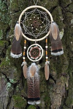 Elven Star Tribal Native Forest Dreamcatcher Wall Hanging Ornament by DreamOfABird on Etsy