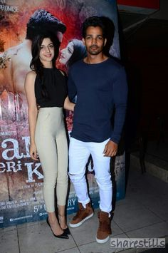 Mawra Hocane, Harshvardhan Rane at Sanam Tei Kasam promotions on Jan 2016 Romantic Couple Images, Couples Images, Romantic Movies, Romantic Couples, Sanam Teri Kasam, Pakistani Models, Perfect Couple, Celebs, Celebrities