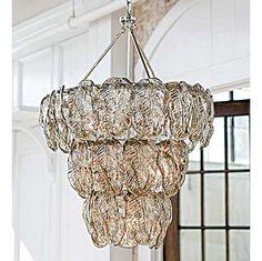 Regina Andrew silver glass leaves chandelier