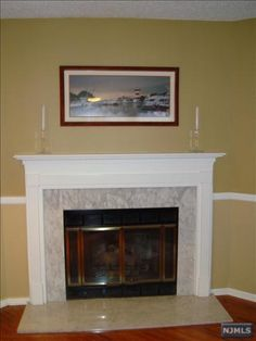 Gas Fireplace with Marble Surround 1293 Hibsucus Ct Mahwah, NJ