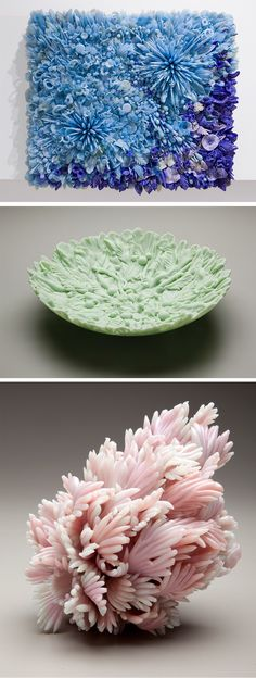 Vintage Pressed Glass Sculptures with a Flourish of Detail by Amber Cowan