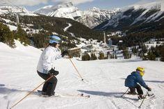 Skiing at Sunshine Village