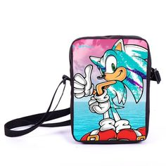 Sonic Mini Messenger Bags Children Crossbody Schoolbags Boys Girls Bookbag Kids Shoulder Bag Bags For Snacks Daily Bag