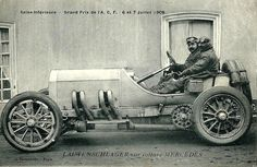 Grand Prix de l'ACF - 1908. [mercedes]. In 1908, Christian Lautenschlager was given the opportunity to drive one of three Mercedes race vehicles, and he drove it to victory in the French Grand Prix at Dieppe, France. He returned to his factory job rather than joining the racing circuit as a permanent driver. In 1914, driving a Mercedes 37/95, he won the Elgin Trophy in Elgin, Illinois.