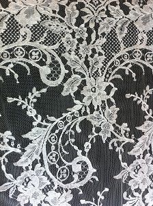 Wedding dress lace by solstiss getting milled then custom beaded by June 7th.
