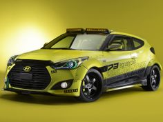 Hyundai Veloster Turbo at SEMA...Yellowcake