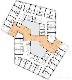 Plan Hotel, Hotel Floor Plan, Concept Architecture, School Architecture, Architecture Design, Hospital Plans, Hospital Floor Plan, School Plan, Hospital Design