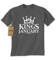 Kings Are Born In January Mens T-shirt