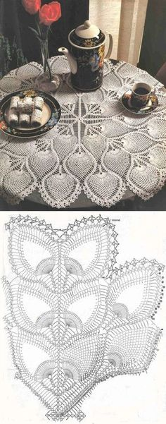 Retro Fashion For Ladies .Retro Fashion For Ladies Crochet Gloves Pattern, Crochet Doily Diagram, Crochet Flower Patterns, Crochet Mandala, Crochet Chart, Thread Crochet, Filet Crochet, Crochet Motif, Crochet Designs