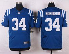 Men's NFL Indianapolis Colts #34 Robinson Blue Elite Jersey