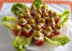 Tomatitos cherry rellenos Receta de Mari Carmen - Cookpad Rellenos Recipe, Appetizer Recipes, Appetizers, Food Decoration, Canapes, Empanadas, Finger Foods, Pickles, Potato Salad