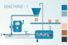 complex industrial machine. Business Infographic. $5.00
