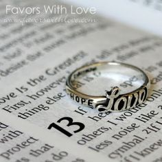1 Corinthians 13:13- And now these three remain: faith, hope, and love. But the greatest of these is love.