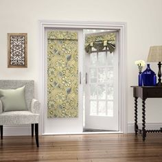 Waverly Brighton Blossom French Door Panel   Overstock.com Shopping - The Best Deals on Blinds & Shades