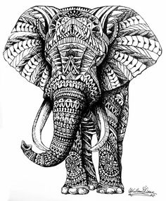 Ornate Elephant by Slightly-Spartan on DeviantArt