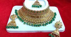 Delicate Beaded Choker Set, Jewellery Sets, Kundan Jewellery Sets, Jewellery Sets online, Kundan Earrings, Buy Jewellery Sets online,Piu's Collection