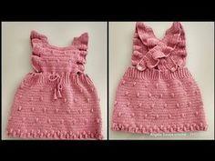 Crochet Baby Dress Free Pattern, Baby Dress Patterns, Baby Girl Crochet, Crochet Baby Clothes, Crochet For Kids, Easy Crochet, Skirt Patterns, Coat Patterns, Blouse Patterns