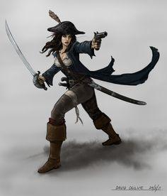 Pirate captain by ~ogilvie on deviantART