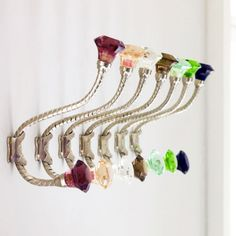 Coloured Glass Coat Hooks - Hooks - Home Accessories