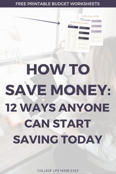 Tips on How to Save Money in College | Money Saving Tips Hacks Ideas | In Your 20's | For a Vacation Fund | On a Low Income | When Your Broke | Each Week | Living Paycheck to Paycheck | On a Budget | Frugal Living Ideas | Frugal Living Tips | For Beginners | Personal Finance | College Budget Tips | Money Management | Free Printable Budget Worksheets | Free Budget Planner