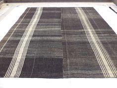 "Oversized Rug,10,7""x12,5"" Feet 323x380 Cm Vintage Home Floor Decor Oversize Turkish Kilim Rug,Stripe Pattern Exstra Large Nomadic Kilim Rug."