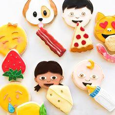 """""""Saturday snacking. Emojis eating emojis."""""""